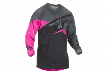 Image of Maillot fly racing f 16 neon rose noir gris xl