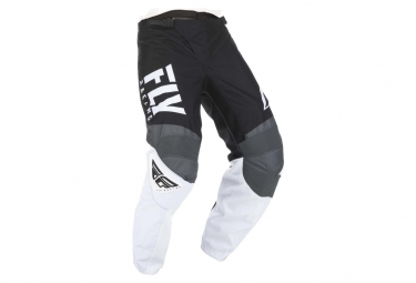 Pantalon fly racing f 16 noir blanc gris enfant 24