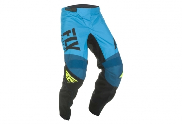 Fly Racing F-16 Kid Pants Blue/Black/Neon Yellow