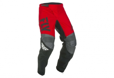 Pantalon fly racing f 16 rouge noir gris enfant 26