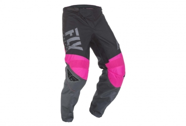 Pantalon fly racing f 16 rose fluo noir gris enfant 24