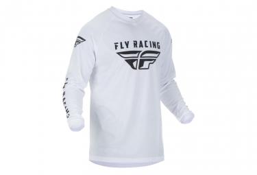 Maillot fly racing universal blanc enfant kid xl