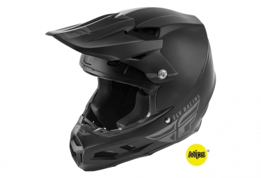 Casque fly racing f2 mips solid noir mat l 59 60 cm