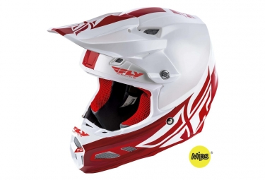 Casque fly racing f2 mips shield blanc rouge m 57 58 cm