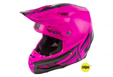 Casque fly racing f2 mips shield noir rose s 55 56 cm