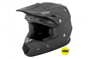 Casque fly racing toxin mips solid noir mat l