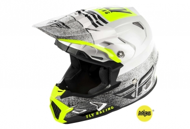 Casque fly racing toxin mips embargo blanc noir xs 53 54 cm