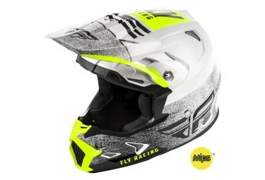 Fly Racing Toxin Mips Embargo Kid Helmet White/Black