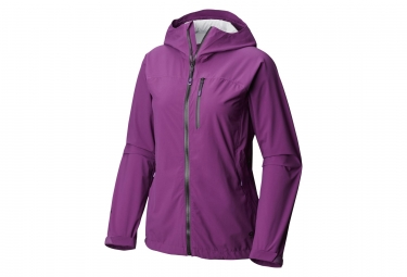 Veste femme coupe vent mountain hardwear stretch ozonic 2 0 violet m