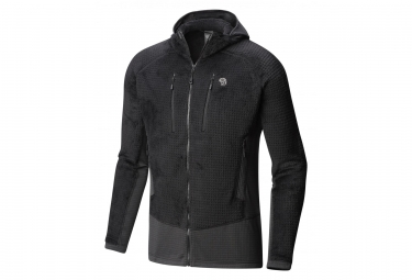 Veste Polaire Mountain Hardwear Monkey Grid Hooded Noir