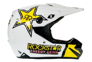 Casque integral one industries atom phantom rockstar noir jaune m 57 58 cm