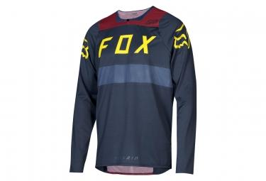 Maillot Manches Longues Fox Flexair Bleu / Rouge