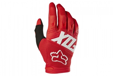 Gants fox dirtpaw race rouge s