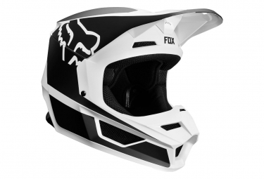 Casque integral enfant fox yth v1 przm noir blanc kid l 51 52 cm