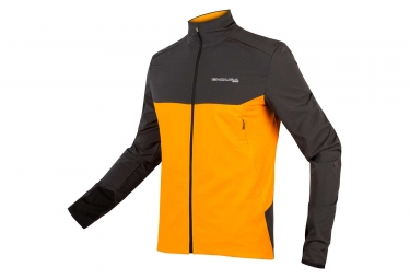 Maillot Manches Longues Endura MT500 Thermo Jaune Gris Anthracite