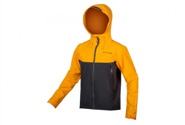 Veste Imperméable Endura MT500 Jaune Gris Anthracite