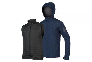 Endura Urban 3-in-1 Waterproof Jacket Navy Blue