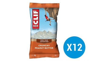 CLIF BAR Energy bars Crunchy Peanut butter x12