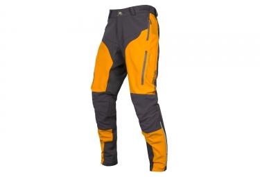 Endura MT500 Spray II DWR Pants Grey Mango Yellow