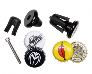 SB3 Bar End Plugs with Insert for Beer Black