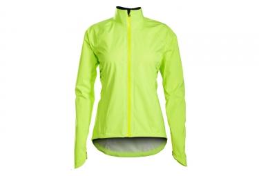 Women Windproof Jacket Bontrager Vella Stormshell Neon Yellow