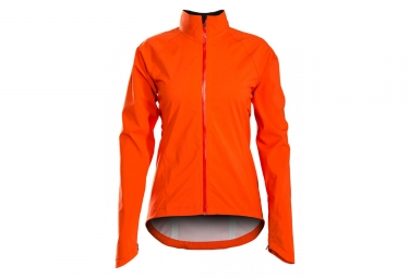 Women Windproof Jacket Bontrager Vella Stormshell Neon Orange