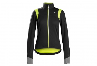 Women Jacket Bontrager Meraj S2 Softshell Black/Yellow