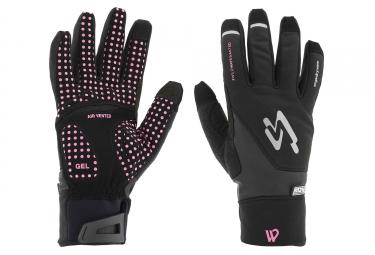 Spiuk XP M2V Winter Gloves Black/Fuchsia
