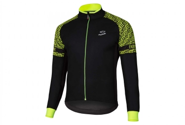 Veste coupe vent deperlant spiuk race light noir jaune fluo xl