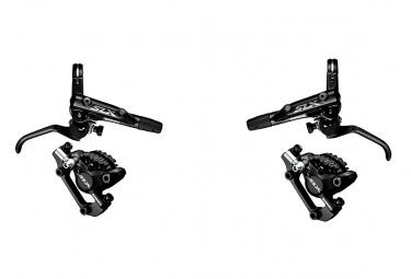 Pair of Brake Shimano SLX M7000 I-Spec 2 - Sintered + Shimano SLX M7000 Metal pads I-spec 2