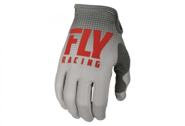 Gants Longs Enfant Fly Racing Lite Gris/Rouge