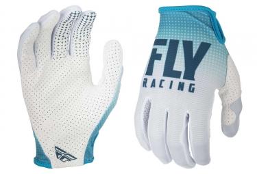 Guanti Lunghi Fly Racing Lite Teal Blu / Bianco