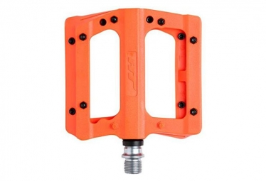 HT Flat Pedals Pair Nylon PA01 Neon Orange