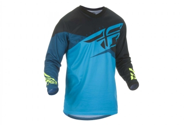 Fly Racing F-16 Long Sleeves Jersey Blue Black