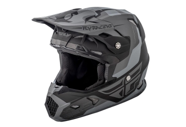 Casque integral fly racing toxin noir gris mat m 57 58 cm