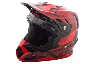 Casque integral fly racing toxin rouge noir brillant xs 53 54 cm