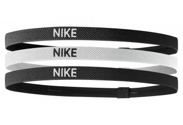 Nike Elastic headbands 3 pieces Black white