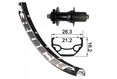 XLC 29'' Rear Wheel | 12x142 mm | Shimano/Sram Freewheel Black