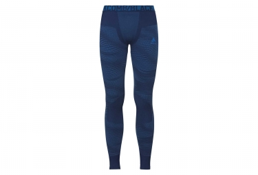 Collant long odlo blackcomb bleu l