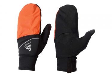 Gants Hivers Odlo INTENSITY COVER SAFETY LIGHT Noir Orange