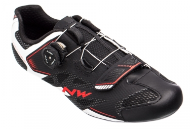 Chaussures route northwave sonic 2 plus noir blanc rouge 40