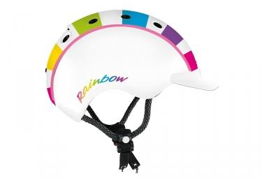 Casque Casco Mini 2 Rainbow Blanc Enfant