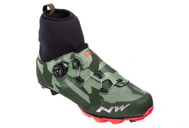 Chaussures vtt northwave raptor gtx camo orange 41