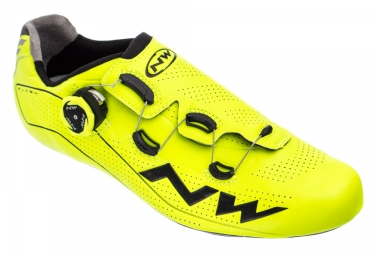 Northwave Flash Road Shoes Neon Yellow Black