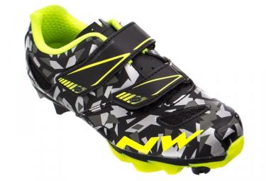 Chaussures vtt enfant northwave hammer junior camo jaune 33