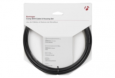 Bontrager Comp Shift Cable/Housing Set 4mm Black