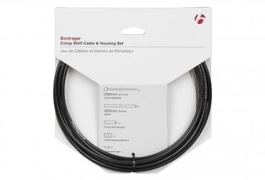 Bontrager Comp Shift Juego de cables / carcasas 4 mm negro