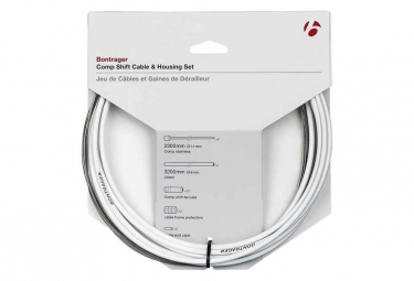 Kit cable et gaine derailleur bontrager route comp 4mm blanc