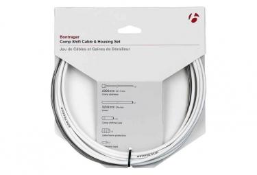 Bontrager Comp Shift Juego de cables / carcasa 4mm blanco