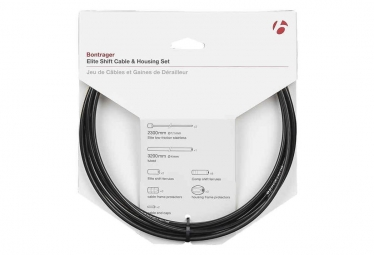 Bontrager Elite Shift Cable/Housing Set 4mm Noir
